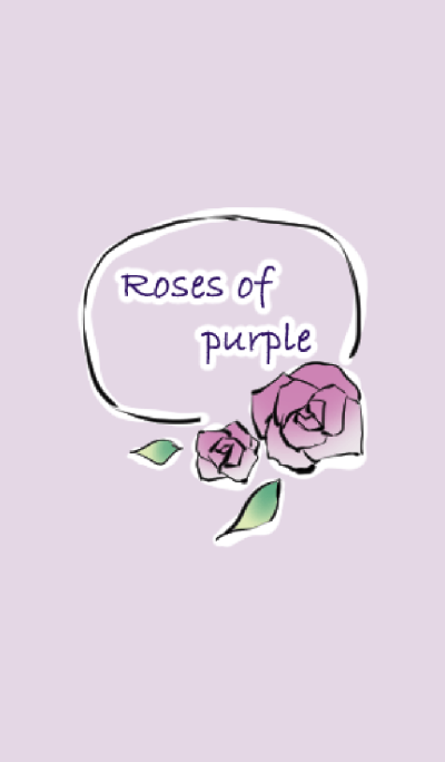 Roses of purple