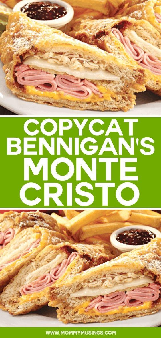 Bennigan's Monte Cristo Recipe