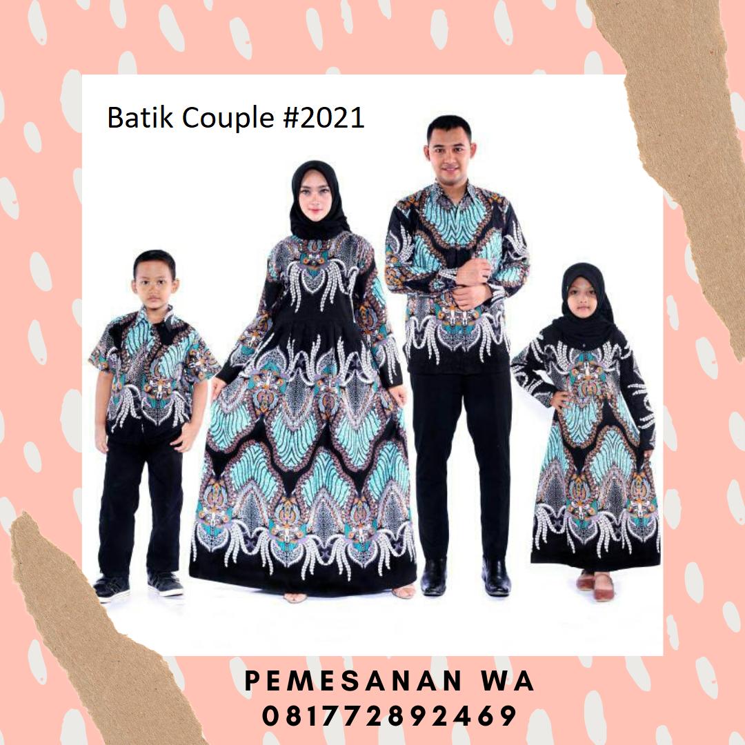 Setelan model baju gamis batik couple keluarga sarimbit ...