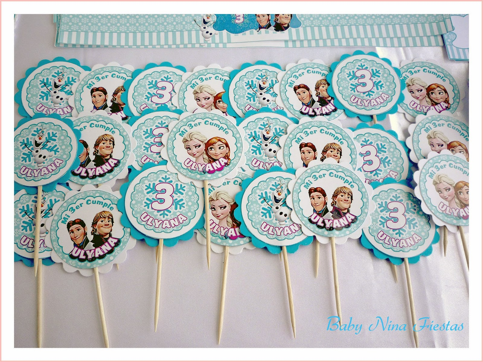 Kit frozen Ulyana - toppers para cupcakes