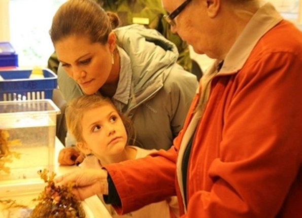 Crown Princess Victoria and her daughter, Princess Estelle visited the Askö Laboratory at Stockholm University Baltic Sea centre in Trosa