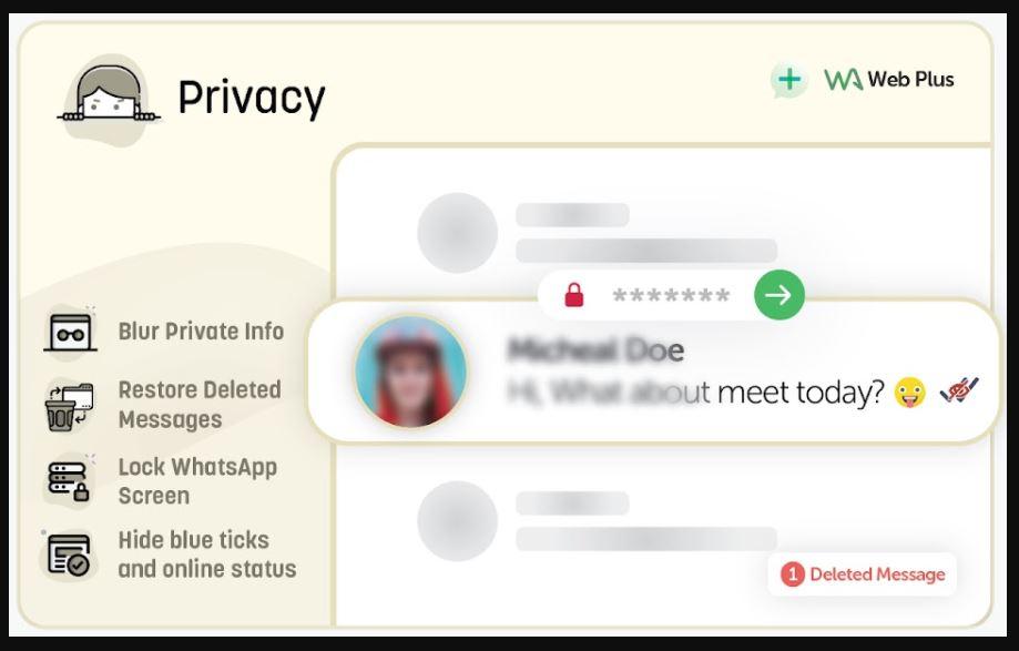 Fitur Privasi WA Web Plus