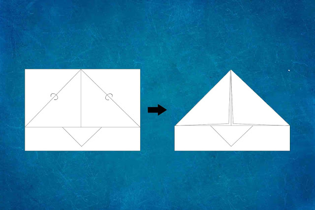 how to make a paper plane step 3
