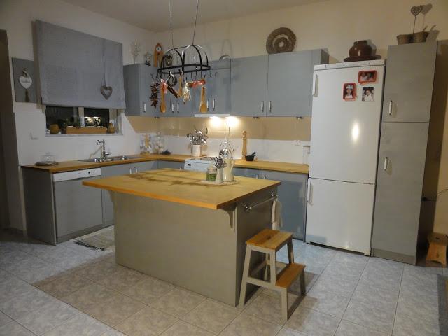 Μεταμόρφωση Κουζίνας με Paris Grey 10 Annie Sloan Greece