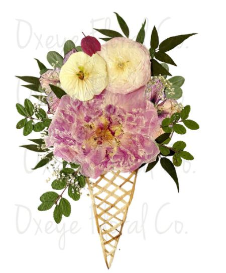 Welcome to Whimsy: Dried flower art by Oxeye Floral Co.