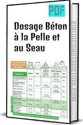 Dosage béton à la pelle et au seau pdf