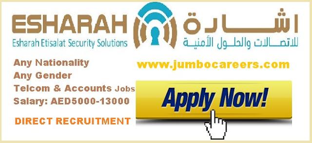 Accountant Jobs dubai, telecom jobs dubai