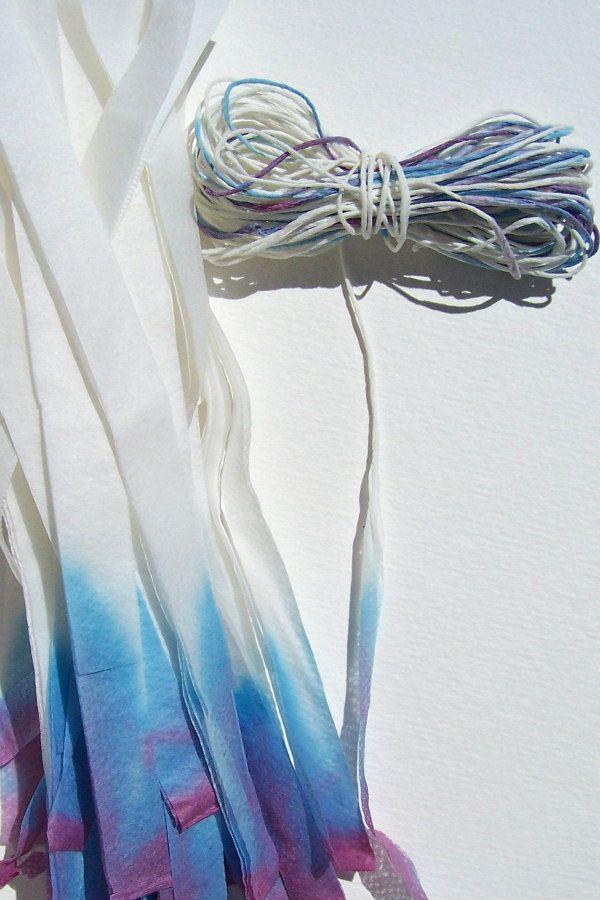 dip-dyed violet paper yarn