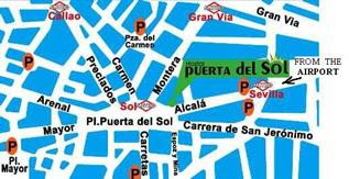 Mapa Puerta Del Sol.Entrehilos Y Algo Mas Blogger Traveller Junio Azul