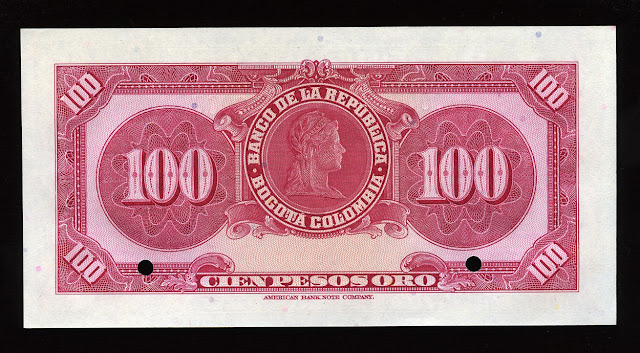 100 Pesos Colombianos Liberty head Libertad