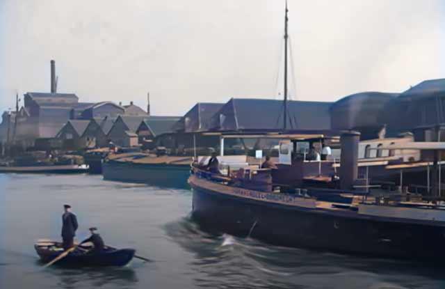 Dordrecht, Holland, in 1925 in color randommusings.filminspector.cmo