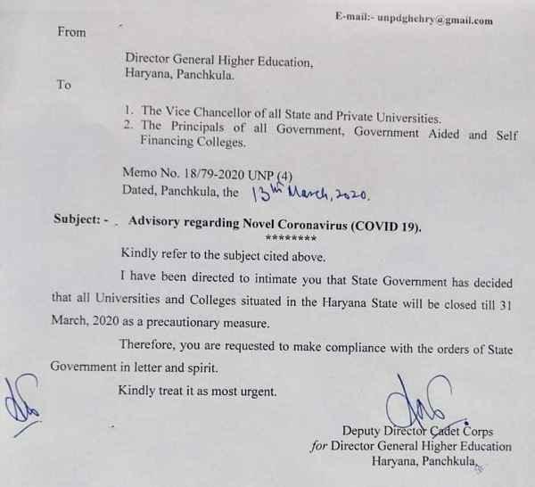 haryana-college-universities-closed