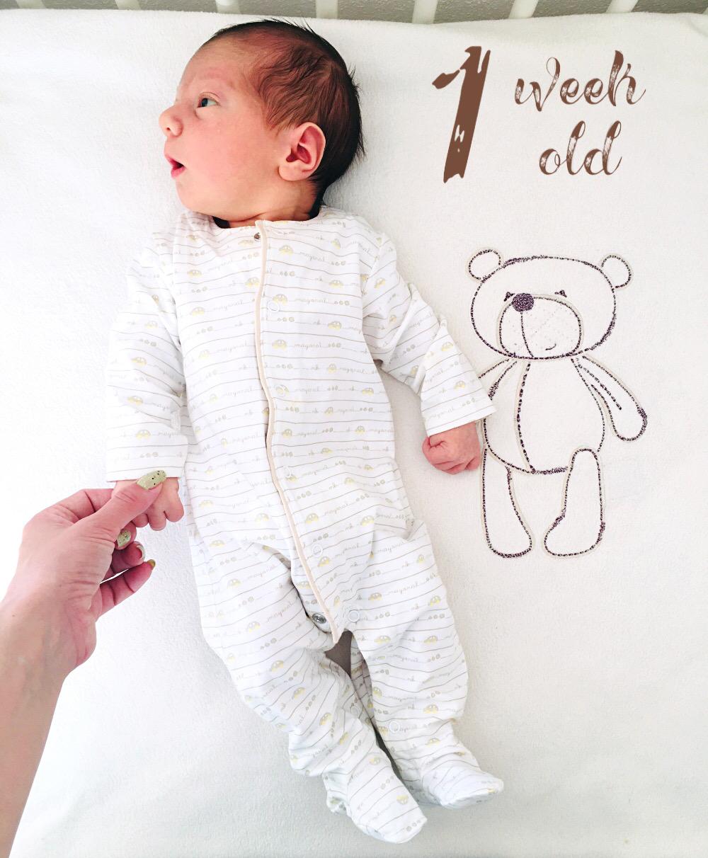 1 week old baby boy, baby pyjama, pidzama za bebe, nedelju dana stara beba