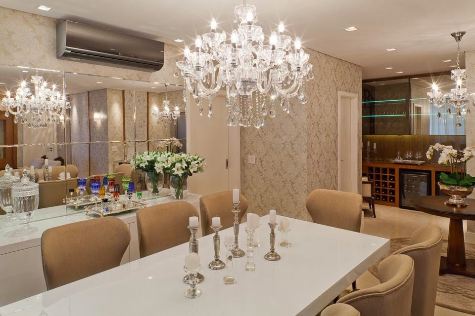 Construindo minha casa clean salas estar e jantar for Mesa sonetto cristal 4 cad cristal rustic bege
