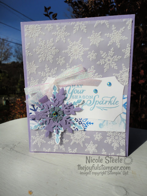 snowflake splendor, snowflake wishes, christmas cards, stamp kits, online stamp classes, stamp class at home, learn to stamp, learn to make cards, stampin' up, nicole steele, independent stampin' up! demonstrator, the joyful stamper