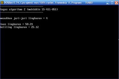 Cara Menghitung Luas dan Keliling Lingkaran Di Turbo Pascal