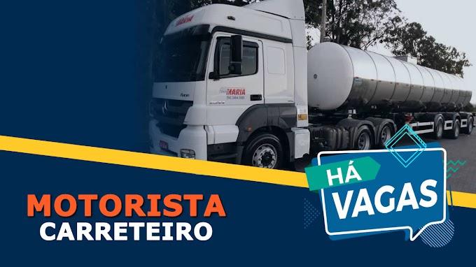 Trans Maria abre vagas para Motorista Carreteiro