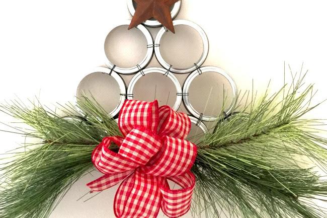 Canning Jar Lid Tree Wreath