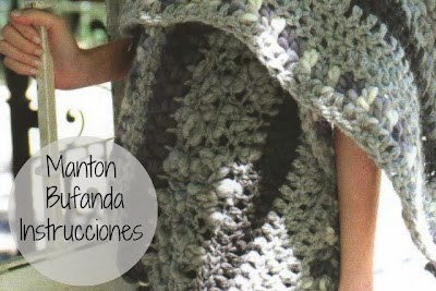 Manton Chal Crochet Intrucciones