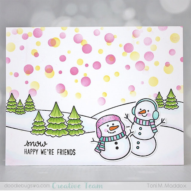 Sunny Studio Stamps: Feeling Frosty Customer Card by Toni Maddox