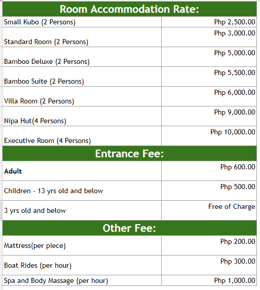 Hotspring Resort And Spa Room Rates