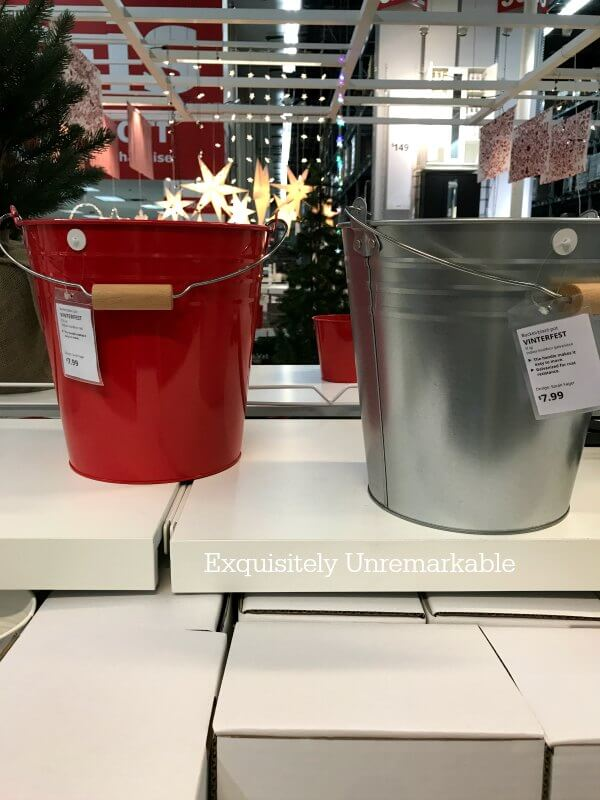 Holiday Buckets Ikea