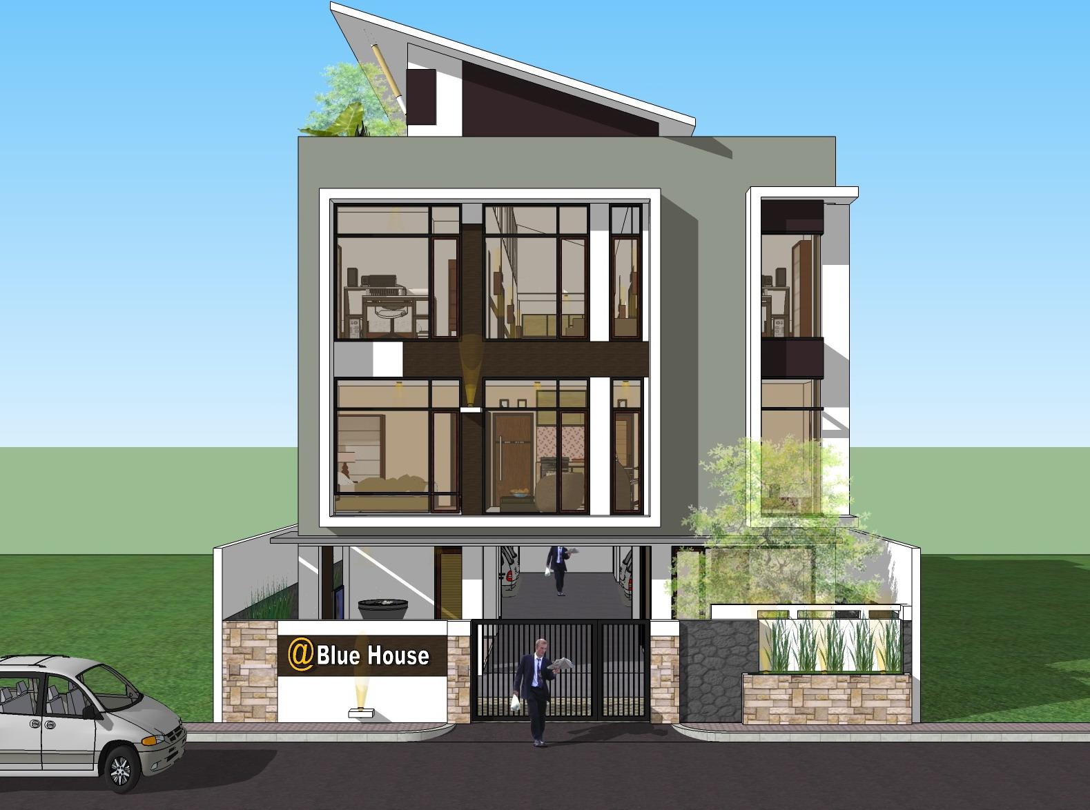 gambar desain rumah kost minimalis 1 lantai terbaru | desain rumah