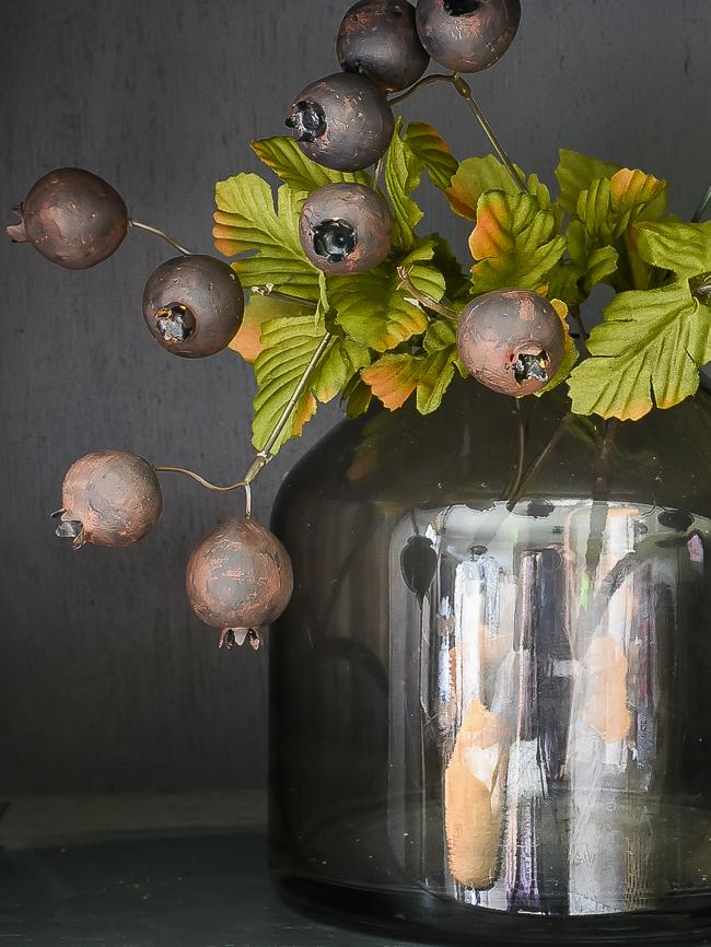 painted Dollar Tree pomegranate stems