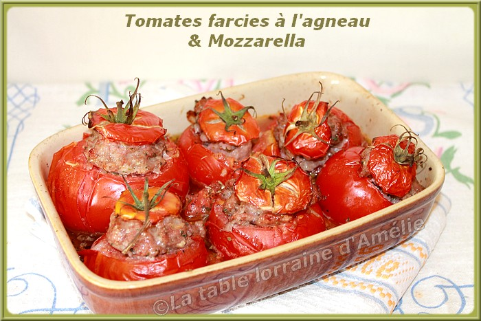 la table lorraine d 39 amelie tomates farcies l 39 agneau et mozzarella. Black Bedroom Furniture Sets. Home Design Ideas