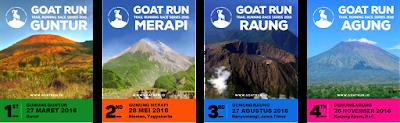 Lomba Lari Goatrun Trail Running Series Satu Gunung Guntur Garut Jawa Barat