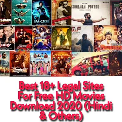 Best 18+ Legal Sites For Free HD Movies Download 2020 (Hindi & Others)