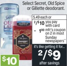 FREE Secret Dry Spray CVS Deals