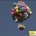 """Increible casa voladora, similar a la pelicua """"Up""""  de Disney Pixar."""