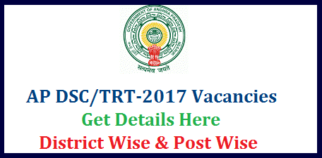 AP DSC/TRT 2017 Notification SA LP PET SGT Vacancies District wise Break up Andhra Pradesh Teacher Posts Vacancies details get here | Post wise DSC Vacancies in AP School Assistants Language Pandits Physical Education teachers Secondary Grade Teachers Total Tentative Vacancies for Teachers Recruitment Test 2017 in Andhra Pradesh | Dist wise Teacher Posts Vacancy Details for TRT-2017 DSC Notification will be issued soon anounced by HRD Minister Ganta ap-dsc-trt-2017-sa-lp-pet-sgt-post-dist-wise-vacancies-teachers-recruitment-andhra-pradesh