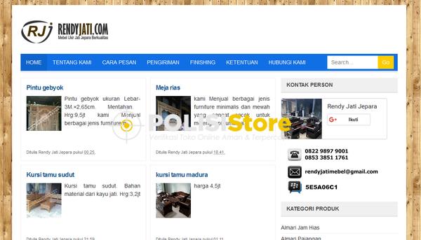 Rendy Jati Jepara - Verifikasi Toko Online Aman dan Terpercaya - Polisi Store