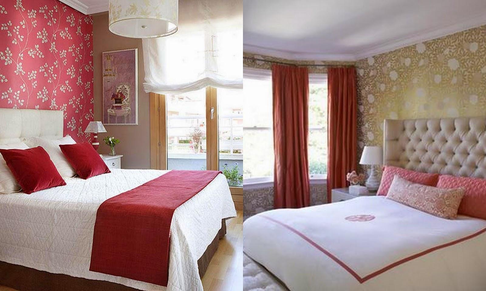 yatak odasi kirmizi desenler