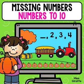Missing numbers 1-10 activities that are digital and so much fun!