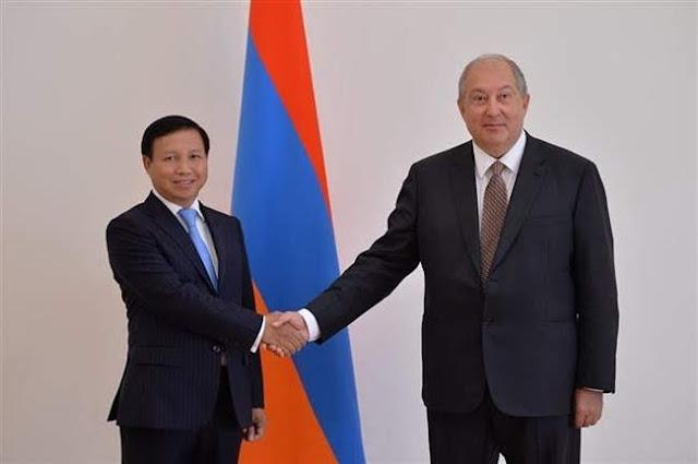 Presidente armenio aprecia relaciones con Vietnam