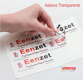 adesivo transparente gráfica em Curitiba