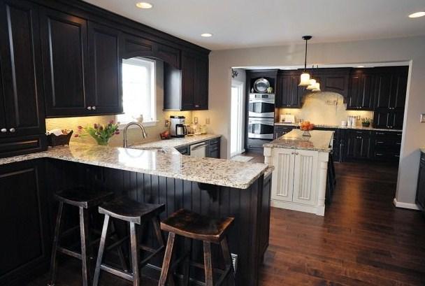 black-kitchen-countertops-paint
