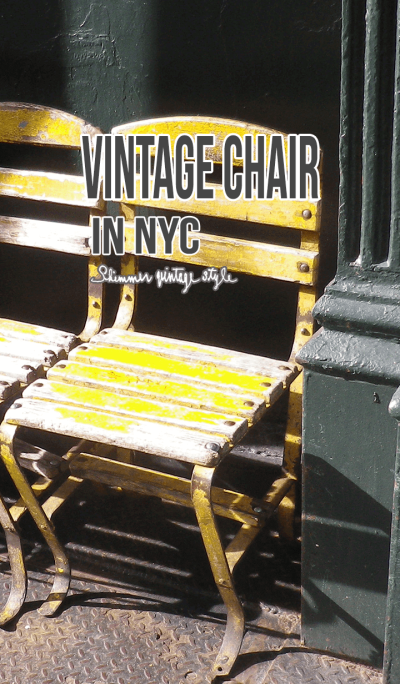 VINTAGE CHAIR IN NYC
