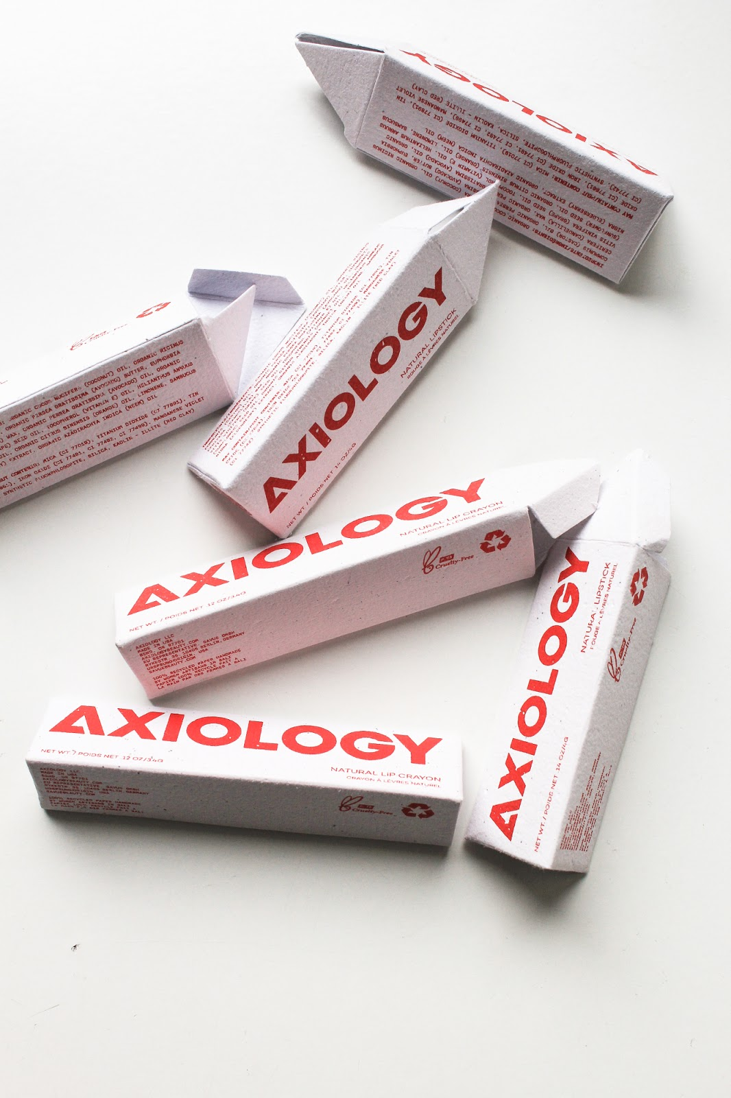 Axiology Limited Edition Makeup Discovery Spring Lip Collections Beauty Heroes. Vegan, palm oil free, recycled paper boxes