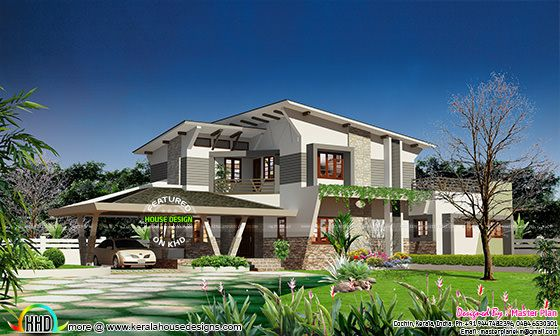 Contemporary home design 4 bed