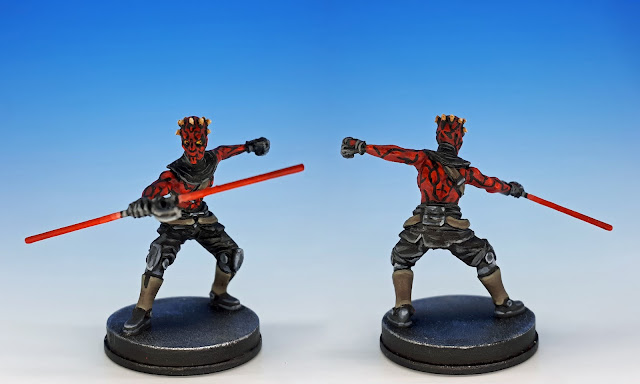 Maul, painted miniature sculpted by Cory DeVore, 2017