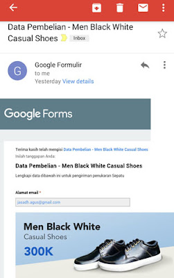 cek email konfirmasi