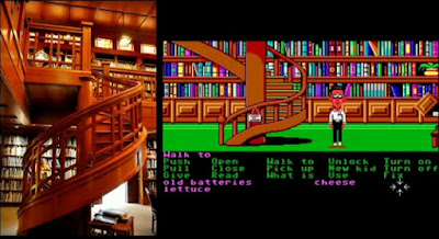 Escalera biblioteca Maniac Mansion - Rancho Skywalker
