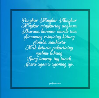 35+ Tembang Pangkur, Contoh, Watak
