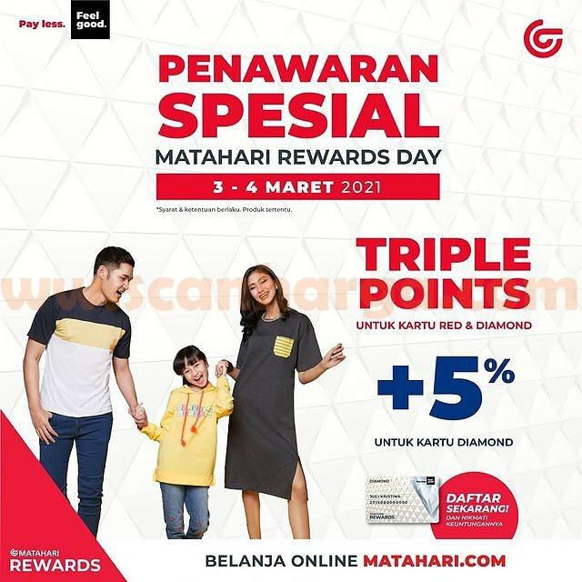 MATAHARI REWARDS DAY! Spesial Triple Points + 5% untuk Kartu Diamond