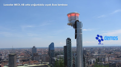 Aviation obstruction lights on tall buildings