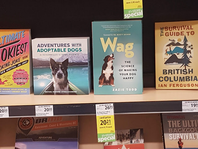 Wag prominently displayed on the shelves at Save On supermarket in Maple Ridge in April 2020